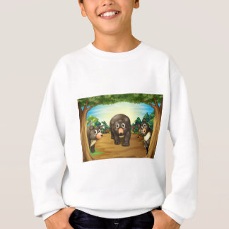 くまおよびジャングル スウェットシャツ