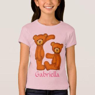 くまのアルファベットの手紙G Initial~Custom Name~Shirt Tシャツ