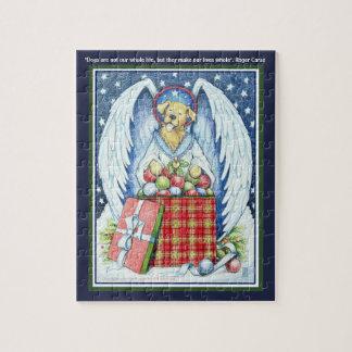 """くまのクリスマスの喜び8"""" x 10""""ギフト用の箱が付いているパズル ジグソーパズル"""