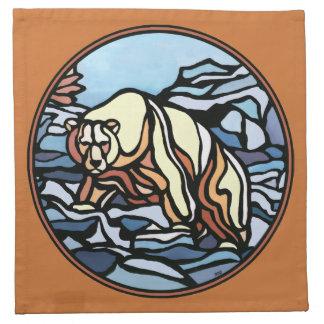 くまのナプキンの名前入りな天然芸術のナプキン ナプキンクロス
