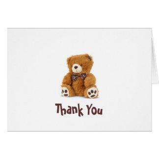 くまのノートありがとう カード