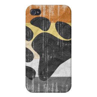 くまのプライドの旗の動揺してなデザイン iPhone 4/4Sケース