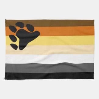 くまのプライドの旗の台所タオル キッチンタオル