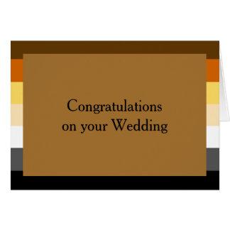 くまのプライドの旗の金の陽気な結婚式のおめでとうカード カード