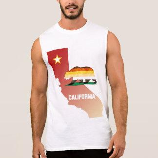 くまのプライドの旗カリフォルニアくまのプライド 袖なしシャツ