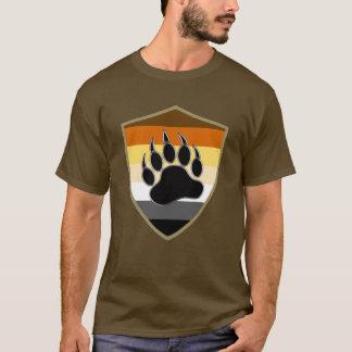 くまのプライドの盾くま足-ワイシャツ Tシャツ