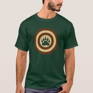 くまのプライドの英雄の盾くま足 Tシャツ