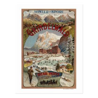 くまのホテル昇進ポスターの眺め ポストカード