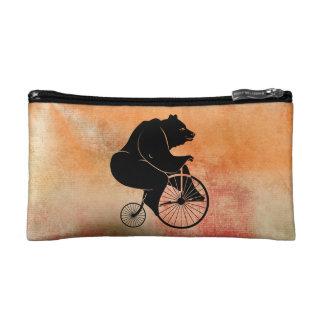 くまの乗馬のヴィンテージのバイク コスメティックバッグ