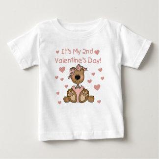 くまの女の子の第2バレンタインデー ベビーTシャツ