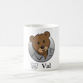 くまの探偵のValのクラシックのマグ コーヒーマグカップ