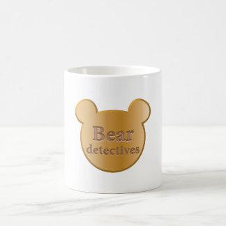 くまの探偵ロゴのクラシックで白いマグ コーヒーマグカップ