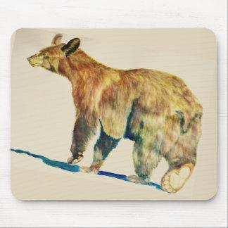 くまの歩くのマウスパッド マウスパッド