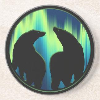 くまの芸術のコースターの天然芸術の野性生物くまのコースター コースター