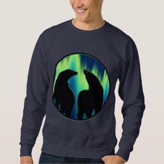 くまの芸術のスエットシャツのユニセックスなオーロラくまのワイシャツ スウェットシャツ