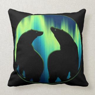 くまの芸術の枕Northern Lightsくまの枕 クッション
