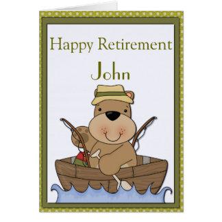 くまの退職の採取 グリーティングカード