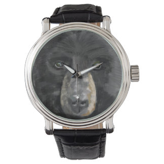 くまの顔の腕時計の顔 腕時計