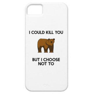 くまはI殺すことができますが、私はないに選びます iPhone SE/5/5s ケース