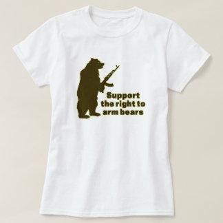 くまを武装させる権利を支えて下さい Tシャツ