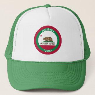 くまカリフォルニア名前入りな旗 キャップ