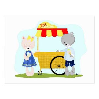 くま家族のアイスクリーム ポストカード