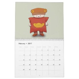 くま帽子2017のカレンダー カレンダー