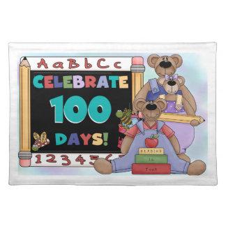 くま100日の学校 ランチョンマット