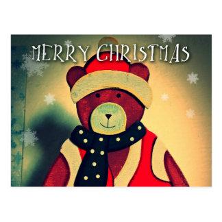 くま2015年が付いているメリークリスマスの郵便はがき ポストカード