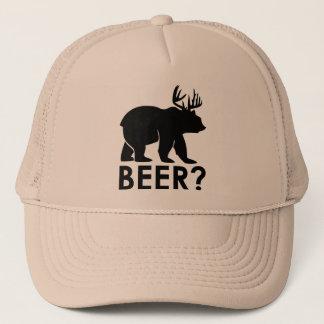 くま + シカ=ビールか。 トラック運転手の帽子 キャップ