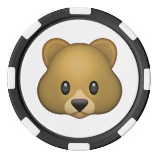 くま- Emoji ポーカーチップ