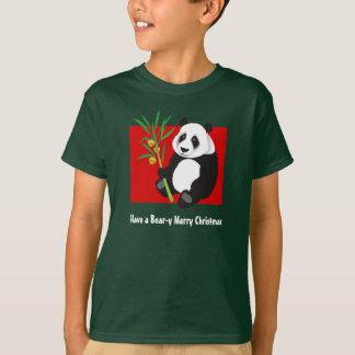 くまyのメリークリスマス tシャツ