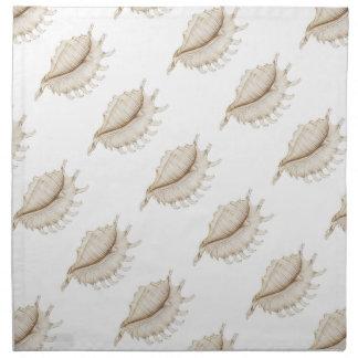 くものコンシュの貝によって着色される鉛筆の布のナプキン ナプキンクロス