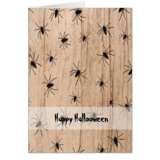 くものハロウィンの挨拶状 カード