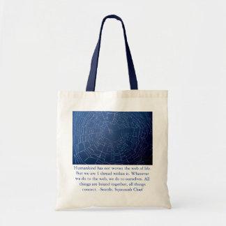 くもの巣のバッグ トートバッグ