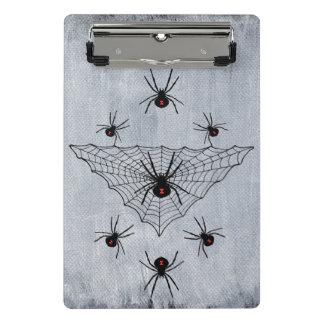 くもの巣の気色悪いクロゴケグモのくもの赤い砂時計 ミニクリップボード