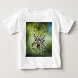くもの巣の落ちる美しいくも ベビーTシャツ