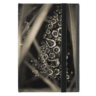 くもの巣の雨滴 iPad MINI ケース