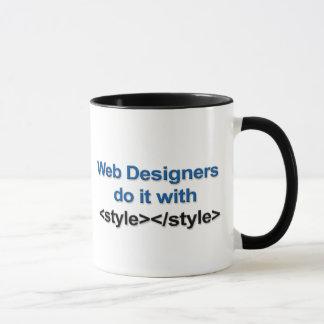 くもの巣デザイナーマグ マグカップ