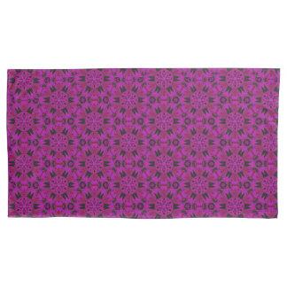 くもの牙の赤紫の組の枕箱 枕カバー