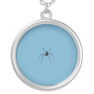 くもの銀によってめっきされるネックレス シルバープレートネックレス