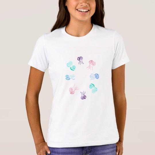 くらげの女の子の乗組員のTシャツ Tシャツ