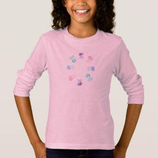 くらげの女の子の長袖のTシャツ Tシャツ