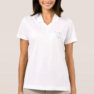 くらげの女性のポロのTシャツ ポロシャツ
