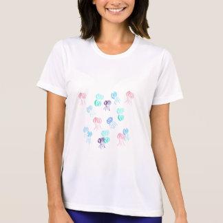 くらげの女性の性能のTシャツ Tシャツ