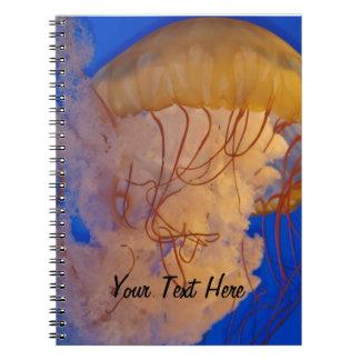 くらげの海の海洋動物の美しい写真 ノートブック