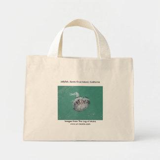 くらげ、サンタクルス島、カリフォルニア ミニトートバッグ