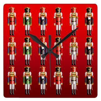 くるみ割りのクリスマスのバレエ スクエア壁時計