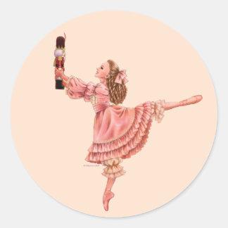 くるみ割りのバレエのステッカー ラウンドシール