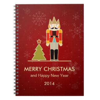 くるみ割りのメリークリスマスおよび明けましておめでとう2014年 ノートブック